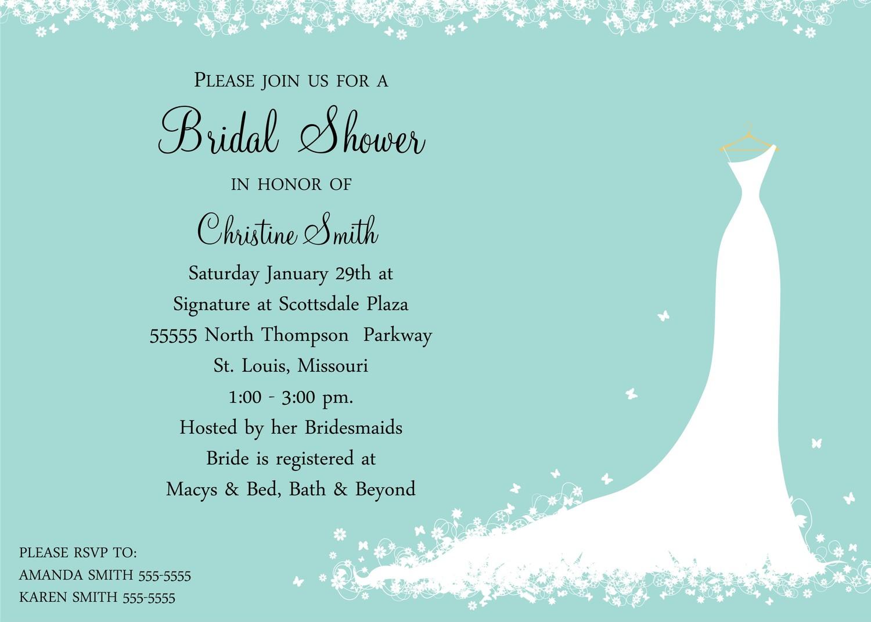 Fill Bridal Shower Invitations