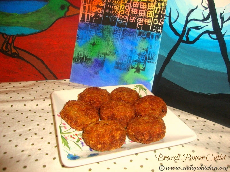 images for Broccoli Paneer Cutlet / Paneer Broccoli Cutlet Recipe