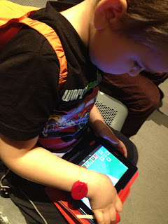 Big Boy playing Minecraft at the Science Museum