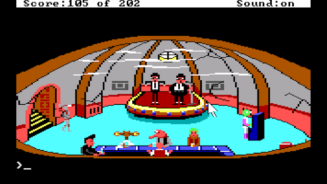 Screenshot from Space Quest I: The Sarien Encounter