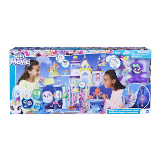 My Little Pony The Movie Canterlot and Seaquestria Castle with Light-Up Tower Playset