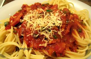 spaghetti sosis lezat mantap