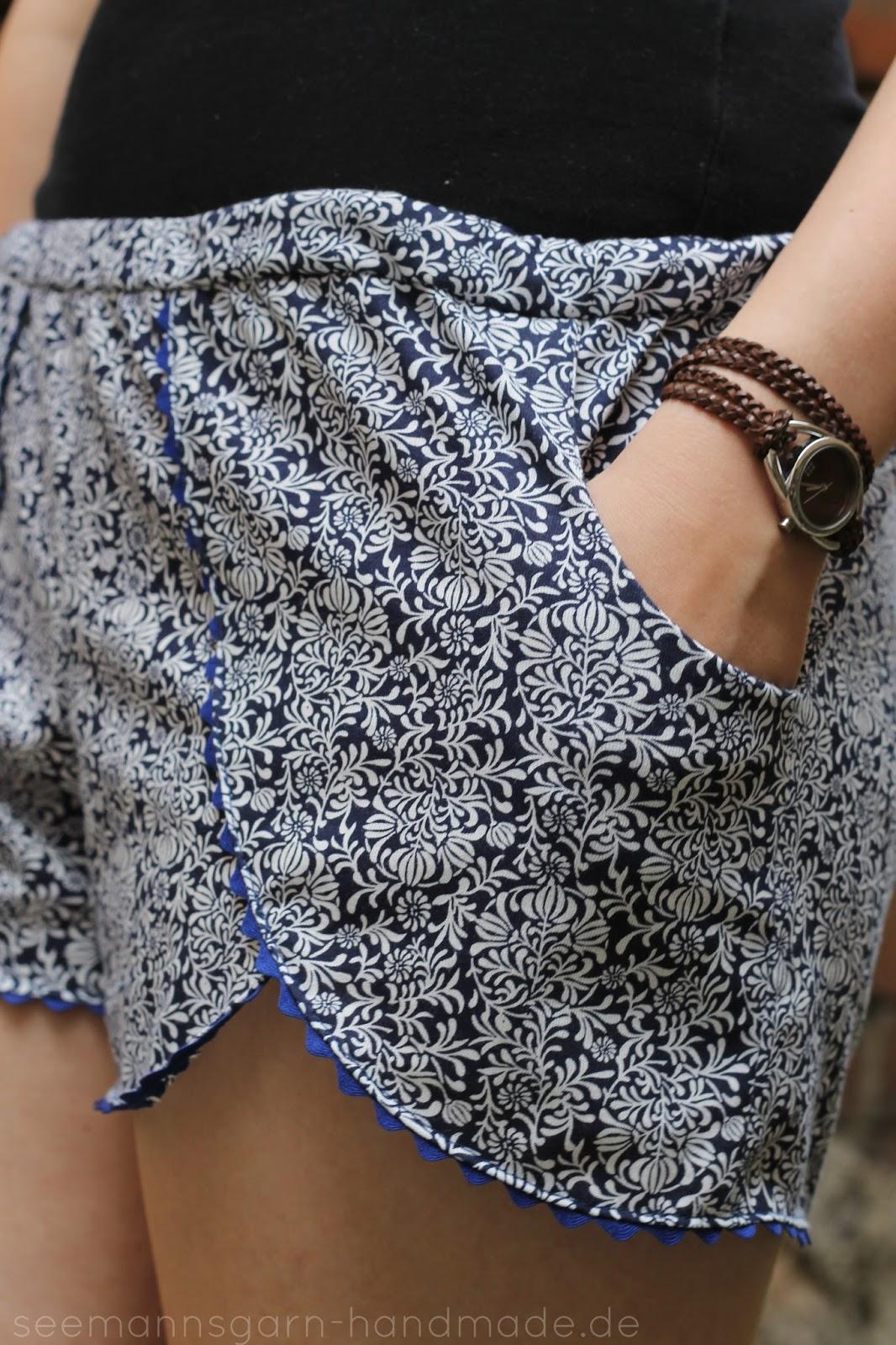 Pattern Hack • Coachella Shorts mit Taschen • Seemannsgarn - handmade