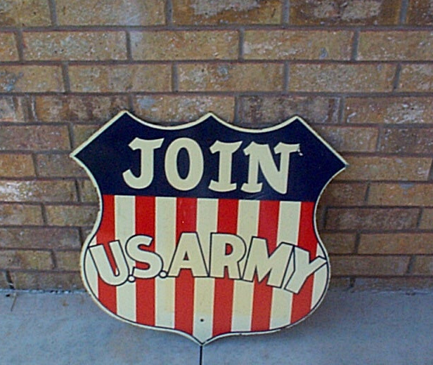 U S  Army Railway Units of the Past: Join Army Railroad sign