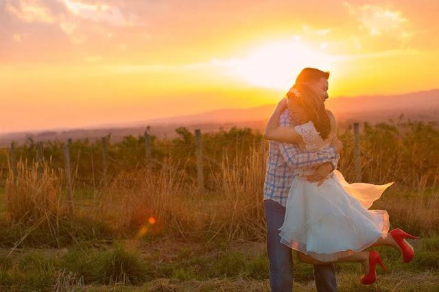 sunset melbourne bride photo