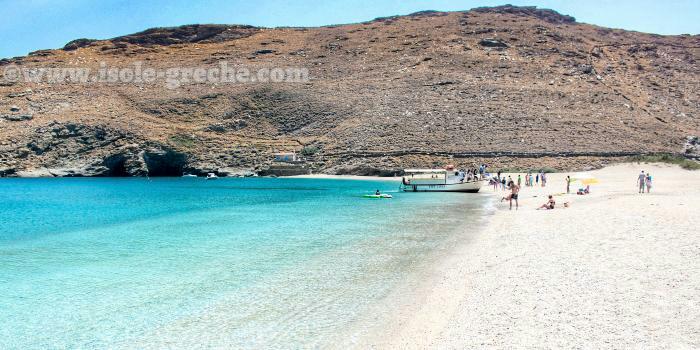 Spiagge Andros, Grecia, costa est