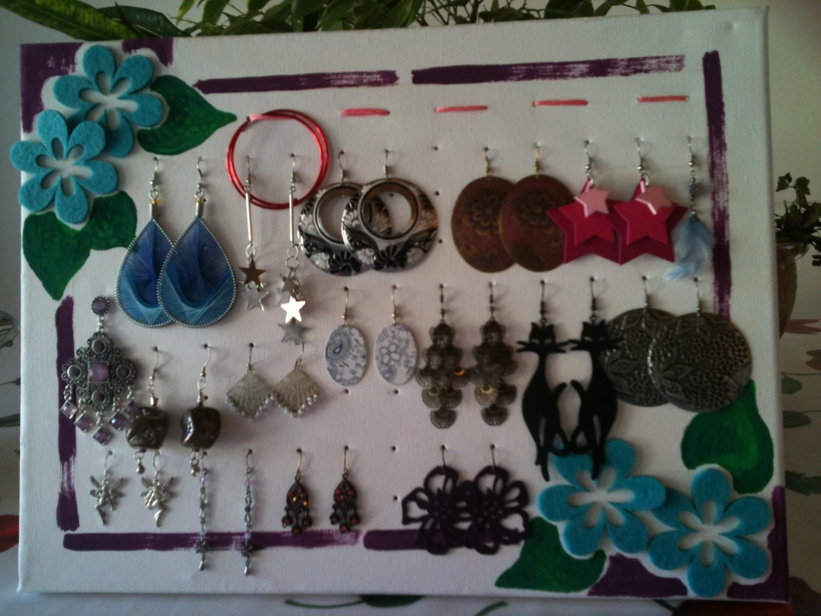 Idee Per Porta Orecchini il mondo di lolly: porta orecchini in tela