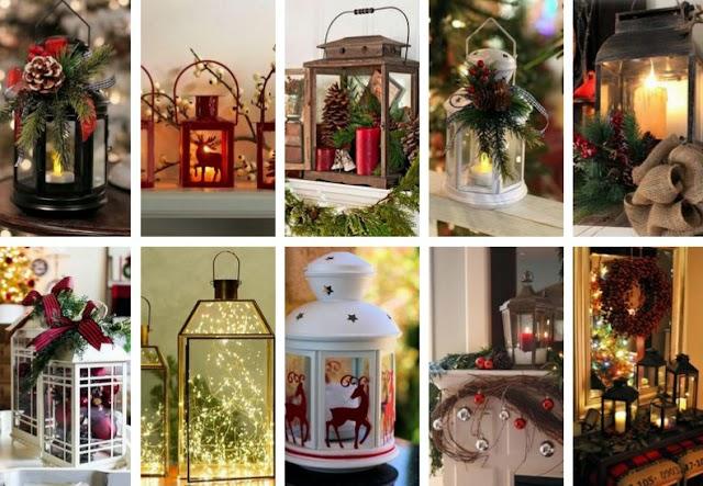50+ Χριστουγεννιάτικες Διακοσμήσεις με Φαναράκια