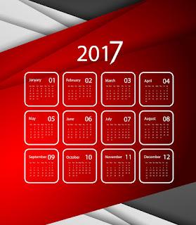 2017カレンダー無料テンプレート205