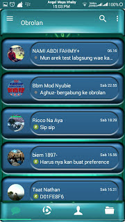 Download BBM MOD Blue Green Toska Angelic APK V3.0.0.18 Terbaru