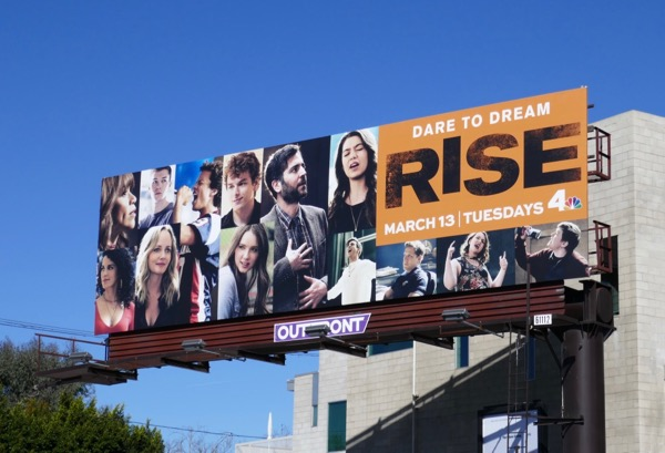 Rise series launch billboard