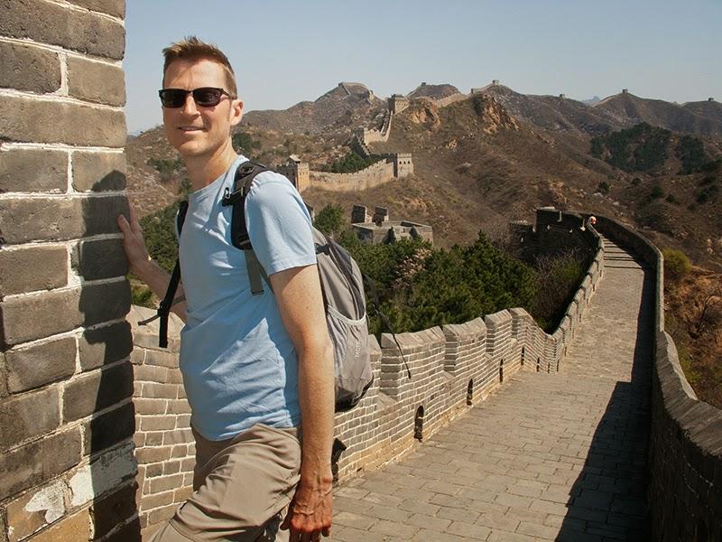 Mario sur la Grande Muraille de Jinshanling