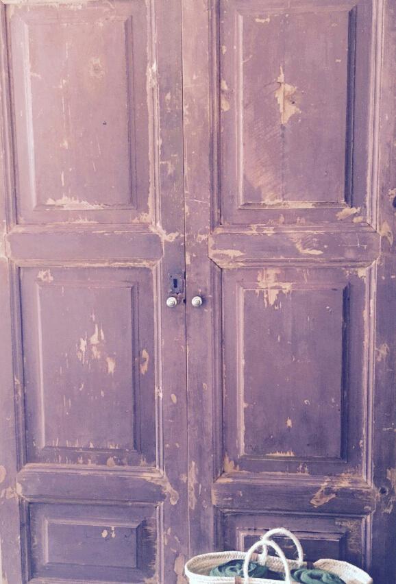 puerta vintage decapada rosa lavanda love