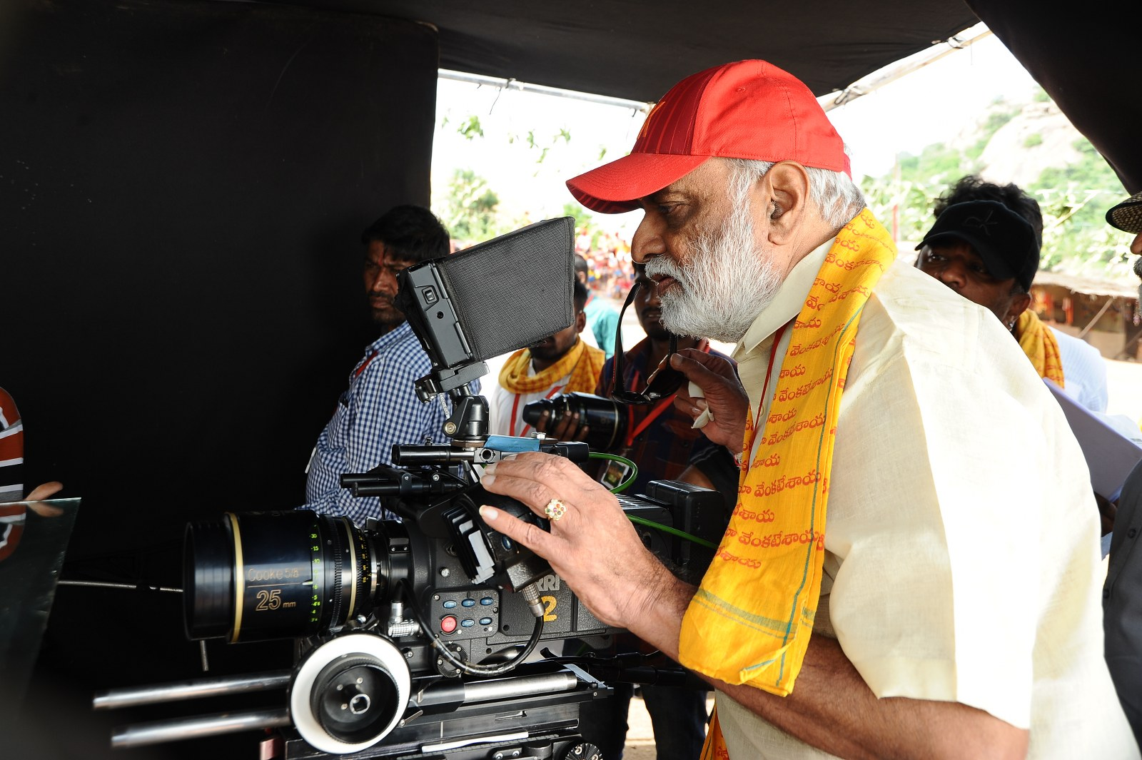 om namo venkatesaya working stills-HQ-Photo-6