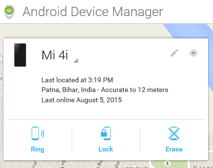 Android Device manager main