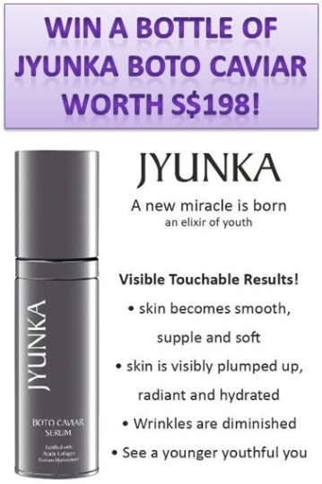 jyunka boto caviar serum giveaways
