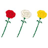 いろいろな一輪のバラの花のイラスト かわいいフリー素材集 いらすとや