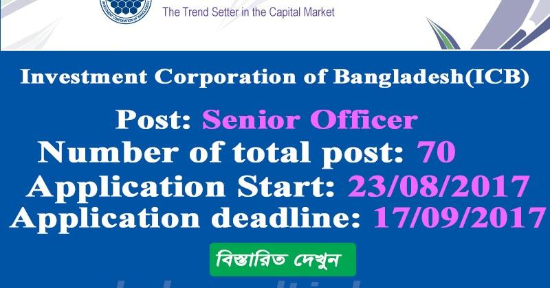 Investment Corporation of Bangladesh(ICB) Senior Officer Job ...