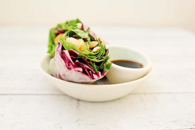 Image of gluten-free vegan spring rolls with crisp veggies and tofu