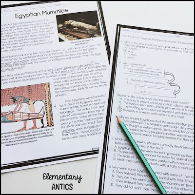 Get some reading test prep in with this engaging article about ancient Egyptians mummies.