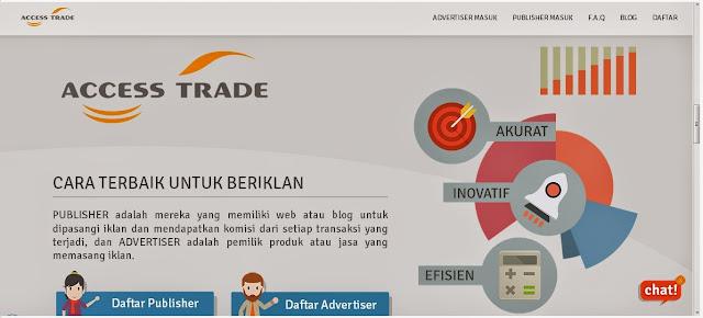 Punya Blog dengan Kunjungan Yang banyak, Daftar Access Trade Afiliasi No 1 di Indonesia