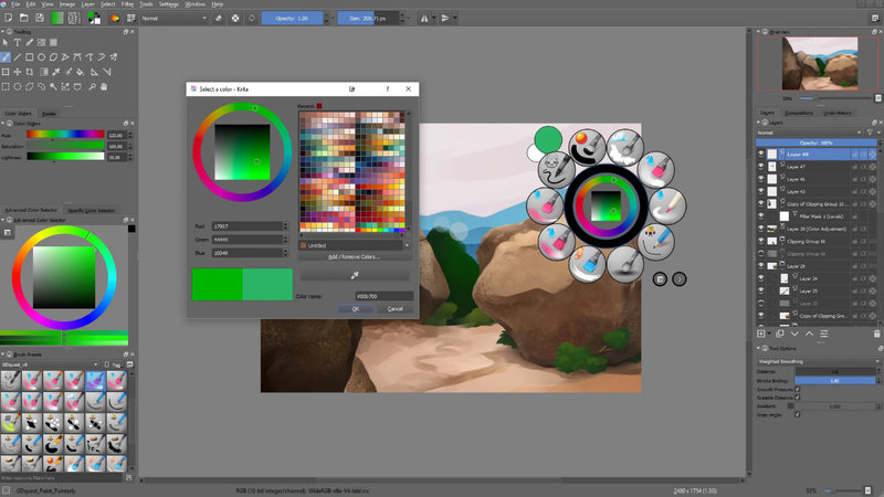 Krita 3 1 Released, Install on Ubuntu 16 10 Yakkety Yak via
