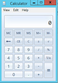 Screenshot of AX calculator
