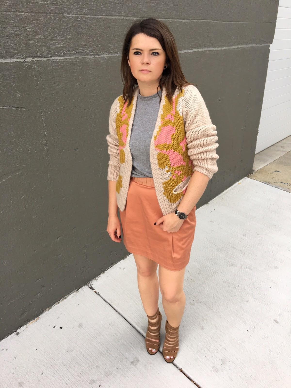 A mini skirt & a cardi