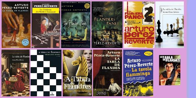 Portadas del libro La tabla de Flandes, de Arturo Pérez-Reverte