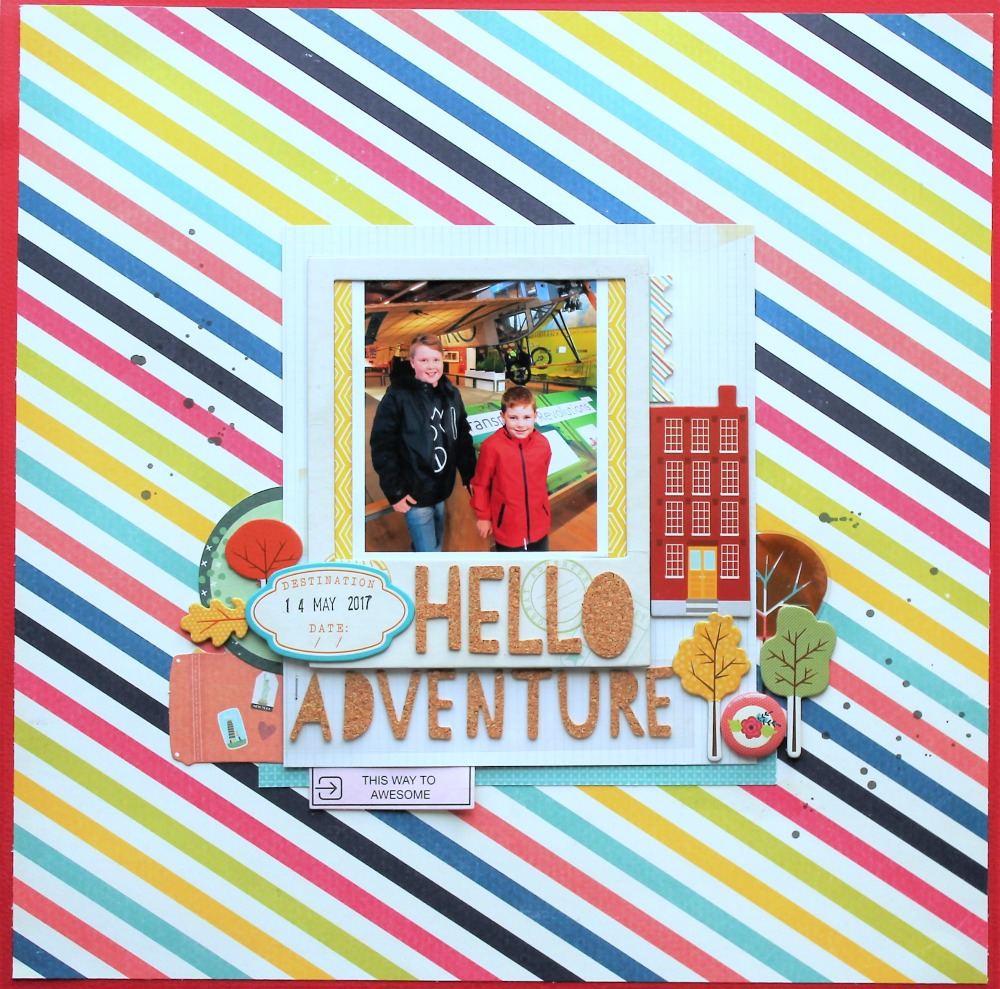 I Just Love That Colourful Striped Paper And Knew I Wanted To Use It As A  Background For This Layout! The Photo I Am Using Is One Of My Sons From Our  Recent ...