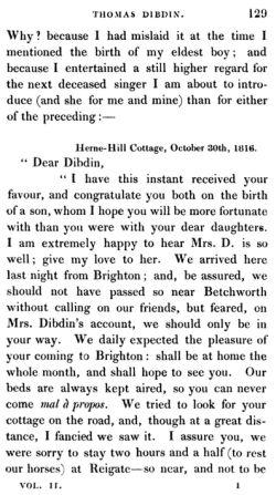 lettre de Nancy Storace 1816
