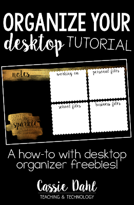 Computer desktops tend to get a bit messy. This tutorial will walk you through the process of creating your own desktop organizer. Don't have the patience or the time? It also has 4 Free Desktop Organizers!