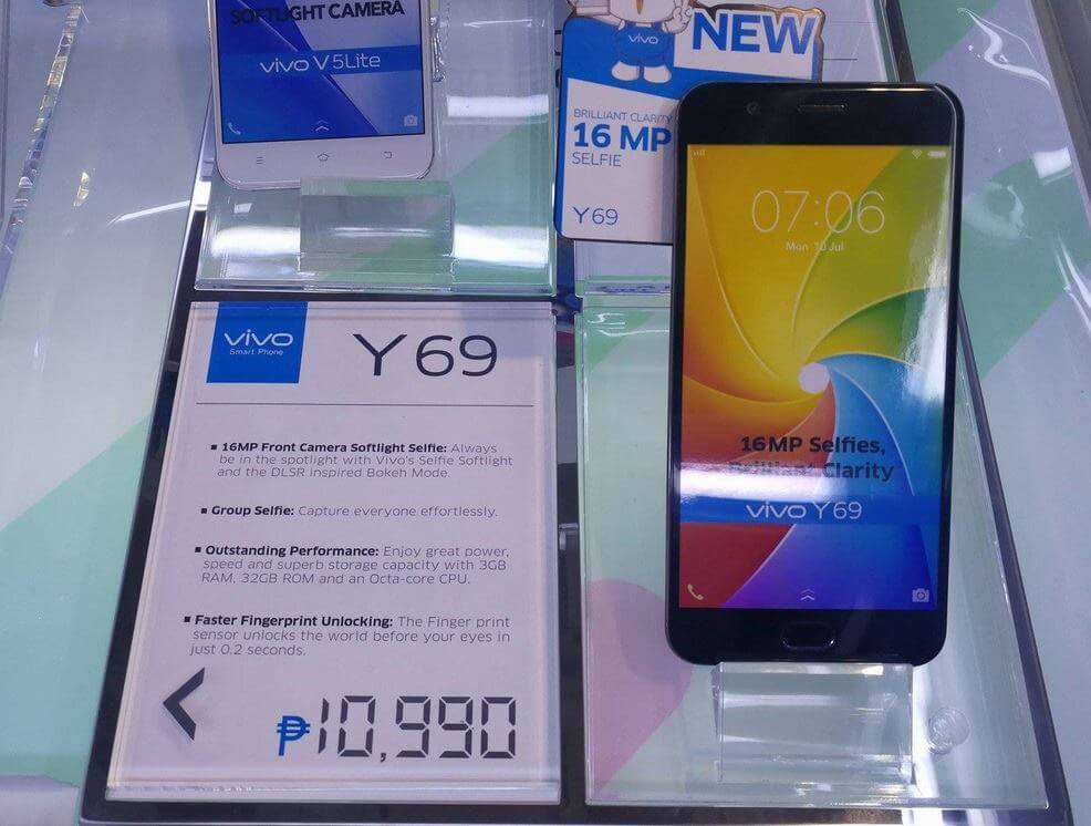 Vivo Y69 Now in Stores for Php10,990; Octa Core Android Nougat 16MP Selfie Camera