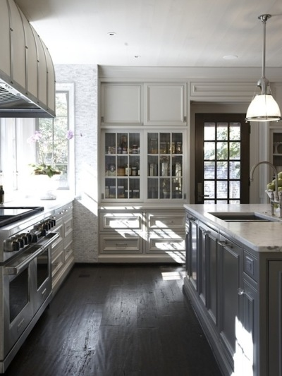 South shore decorating blog gorgeous gray kitchens and for Flooring or cabinets first