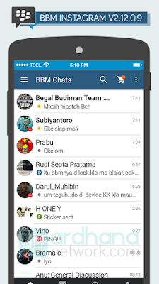 Preview BBM Instagram V2.12.0.9