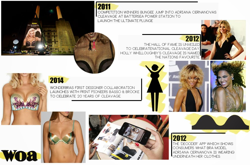 8b8e00b843e2c Wonderbra are celebrating 20 years of the cleavage holding brand. It is a  great reminder of some of the iconic advertising Wonderbra have produced.