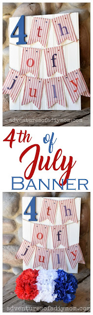 Fun, festive, patriotic banner for the 4th of July