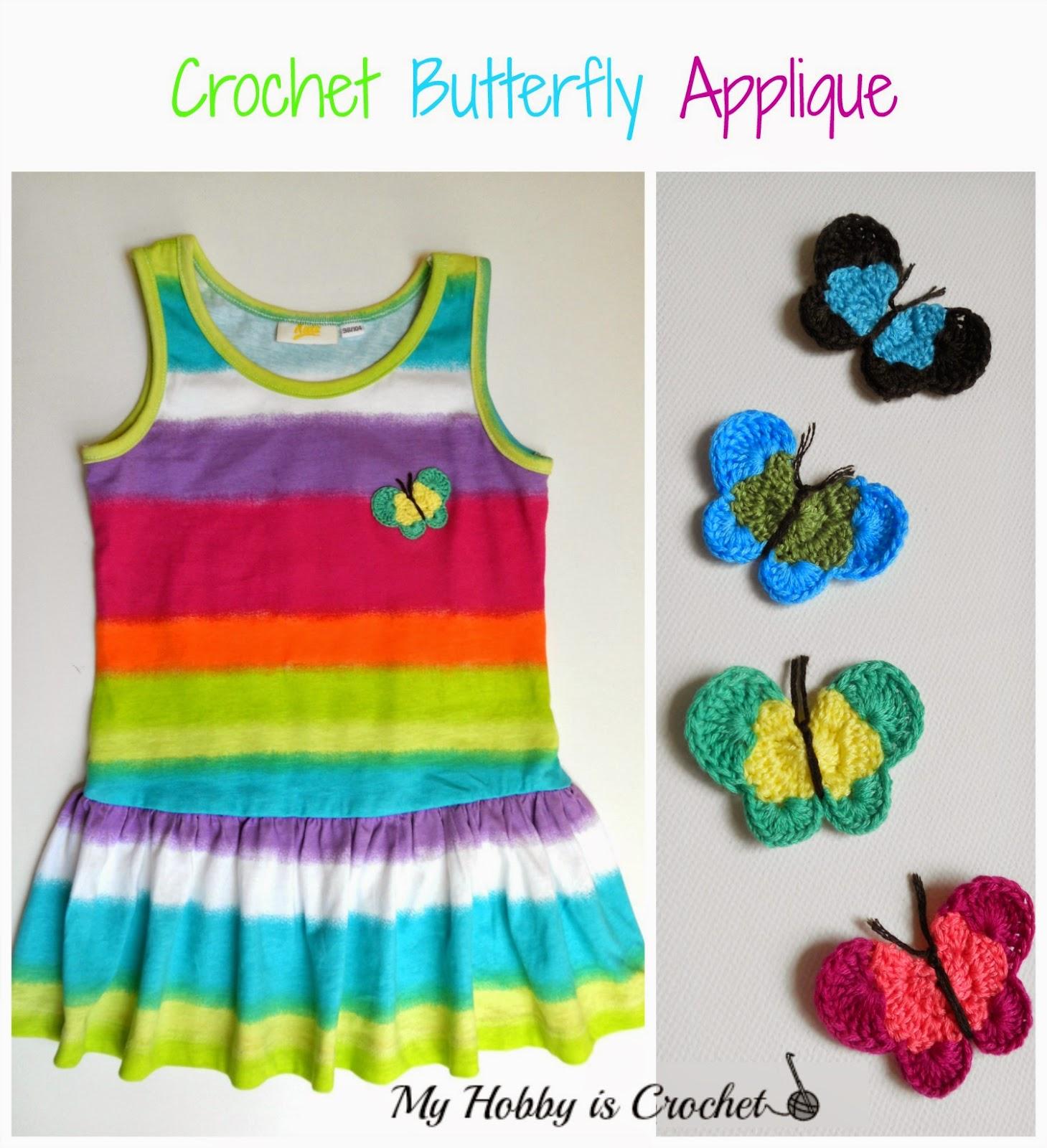 Crochet Butterfly Applique - Free Crochet Pattern Review