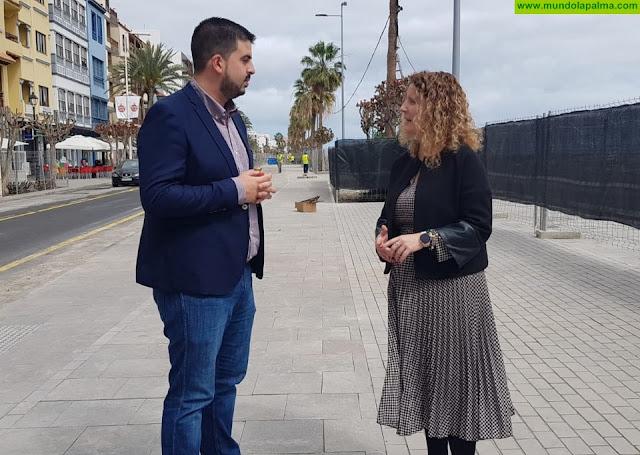 El Cabildo avanza en el cambio de fisonomía del frente litoral de Santa Cruz de La Palma y facilita el uso de la avenida Marítima durante Carnaval
