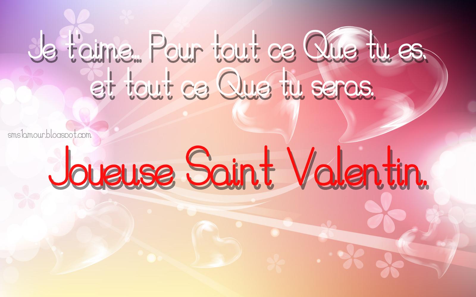 Texte d'amour pour carte St-Valentin