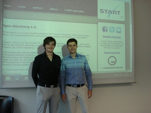 Dominic (links) und Martin können sich über das Stipendium der Initiative START Erlangen-Nürnberg freuen.
