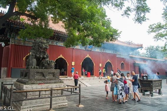 Templo de Lamas en Pekin. Primer dia en China