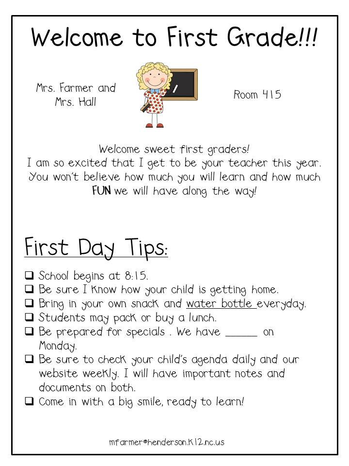Free Professional Resume » welcome back letter to teachers - teacher welcome back letter