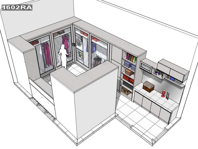 Walk-in closet Bu Tutun | KITCHEN SET MINIMALIS - JAKARTA