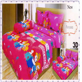sprei 3d lady rose Princes