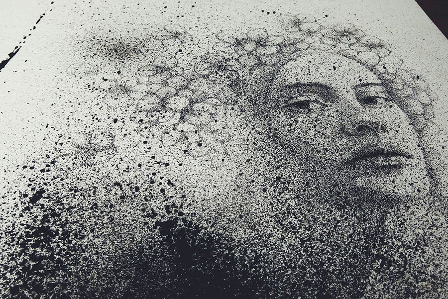 04-Black-Cloud-Portraits-Stippling-Drawings-and-Spray-Paint-www-designstack-co