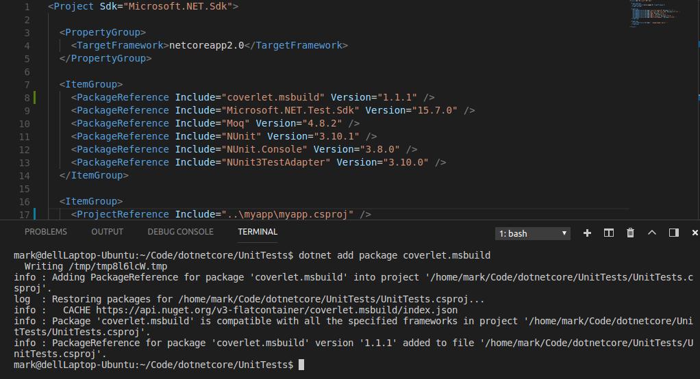 Mark's Musings: Cross Platform Test Code Coverage for  NET