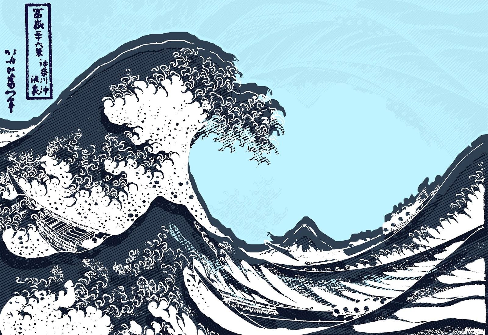 7801a4bf9 En vue de l'exposition du grand maître Hokussai au grand palais, Uniqlo a  organisé un concours, ou il s'agissait de revisiter la célèbre Vague de  Kanagawa ...