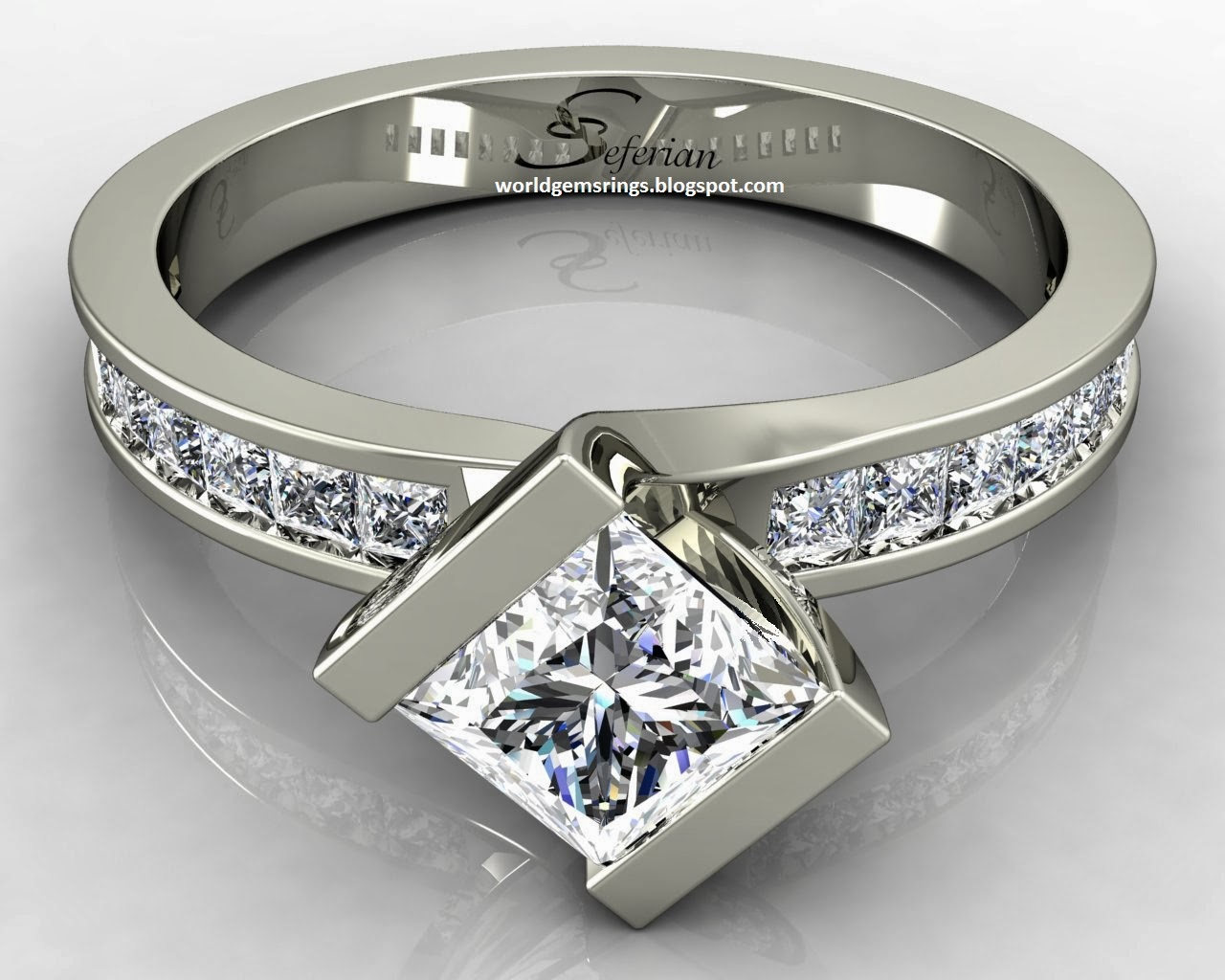 Engagement Ring : Engagement Diamond Sapphire Rings In
