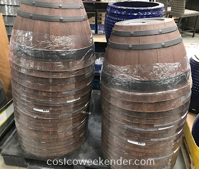 Plant a flower or grow vegetables in the Wine Barrel Planter